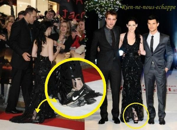 Kristen Stewart, avant-première de Twilight 4, Londres, 16/11/11