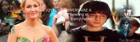 """Joyeux anniversaire à J.K Rowling et de son personnage """" Harry Potter """" en ce 31 Juillet 2011!  La deuxième partie dépasse un milliard de recettes en deux semaines, l'ouverture de Pottermore, et des infos, et des captures d'écrans provenant de Pottermore pour le premier tome de la saga!"""