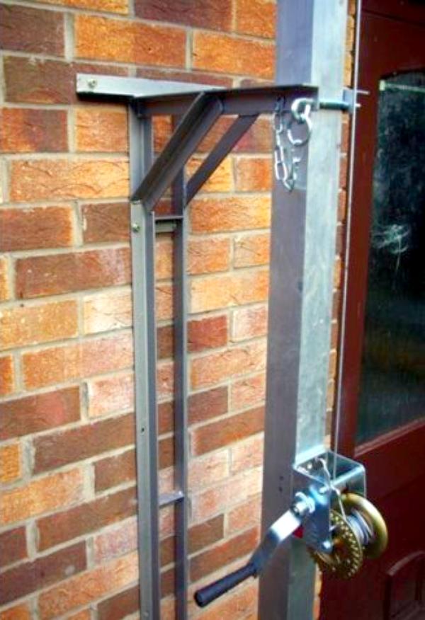 8m (26ft +) inclinaison manuelle mât en aluminium