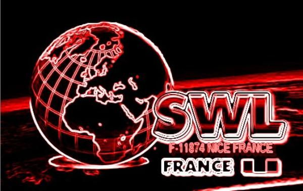 F-11874 SWL PATRICK NICE FRANCE NICE  Amateur Radio 1974 a 2014
