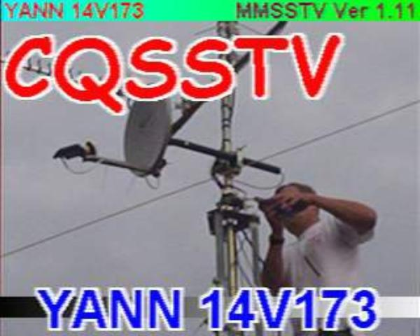 sur l'émission réception radioamateur, la télévision ATV souvenirs souvenirs des bon moment ATV de NICE image video capture par un SWL F-11874  passionné par cette forme de transmission