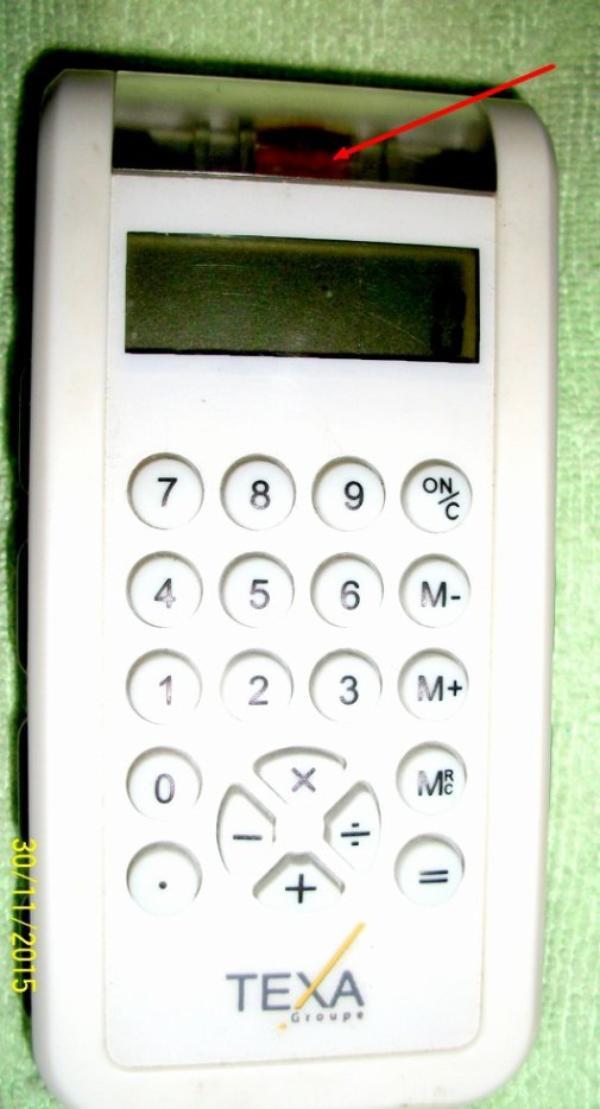 pas de pile sur ma calculatrice écologique ceux charge en la secouant..Un petit pas pour l'homme, un grand pas pour la planète
