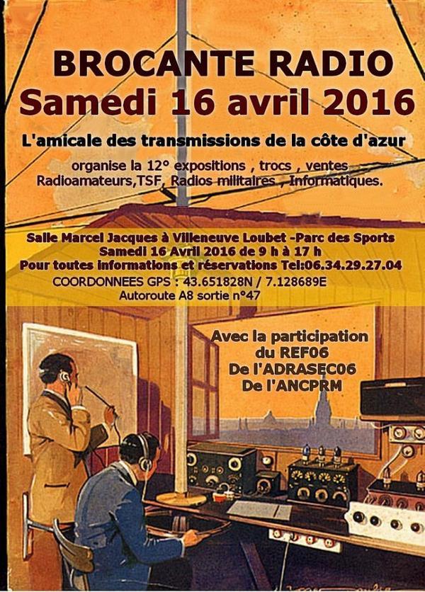 NICE 16/04/2016  radio brocante radioamateur et  amateur radio  06 Alpes Maritimes