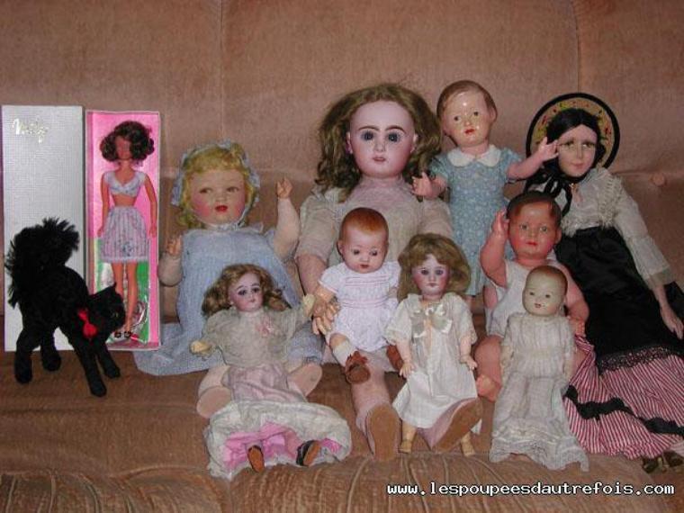 En attendant le père noel, toujours avec de superbes poupées.