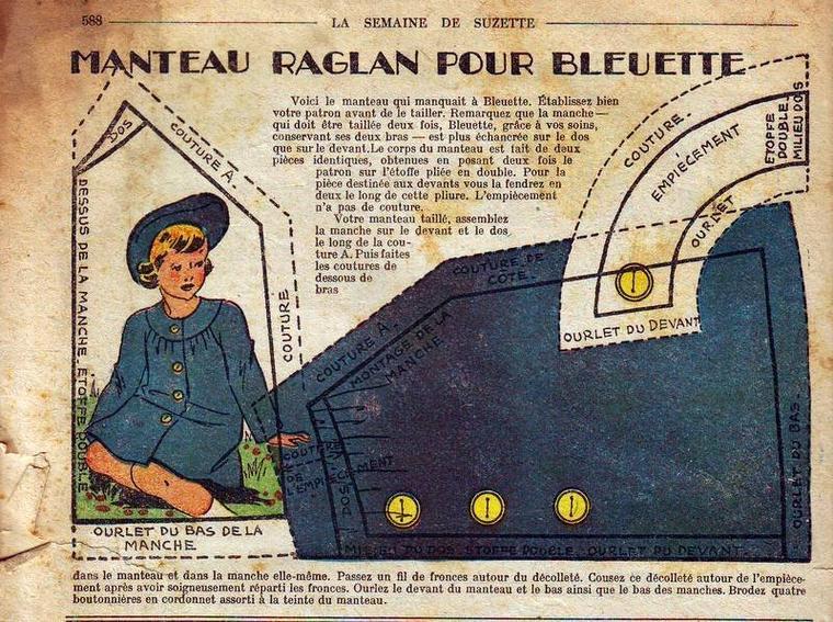 Cadeau du dimanche pour vous et Bleuette, à vos aiguilles et paires de ciseaux, Mesdames.