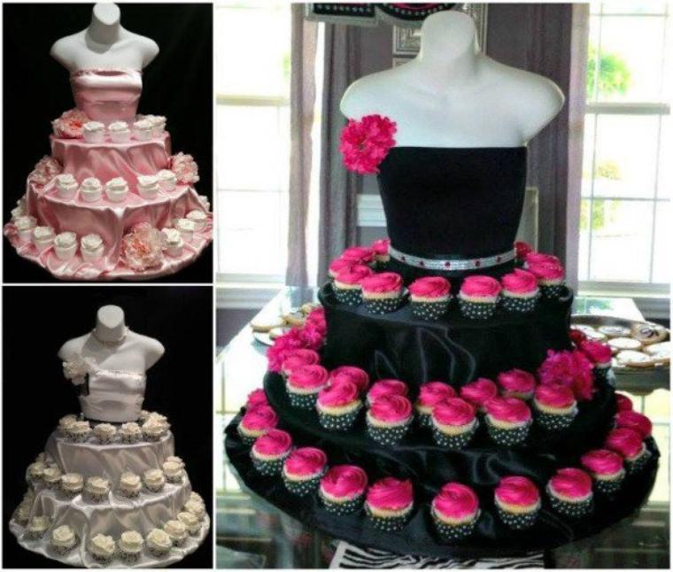 Idée de présentation pour cup cake, pour une occasion spéciale.