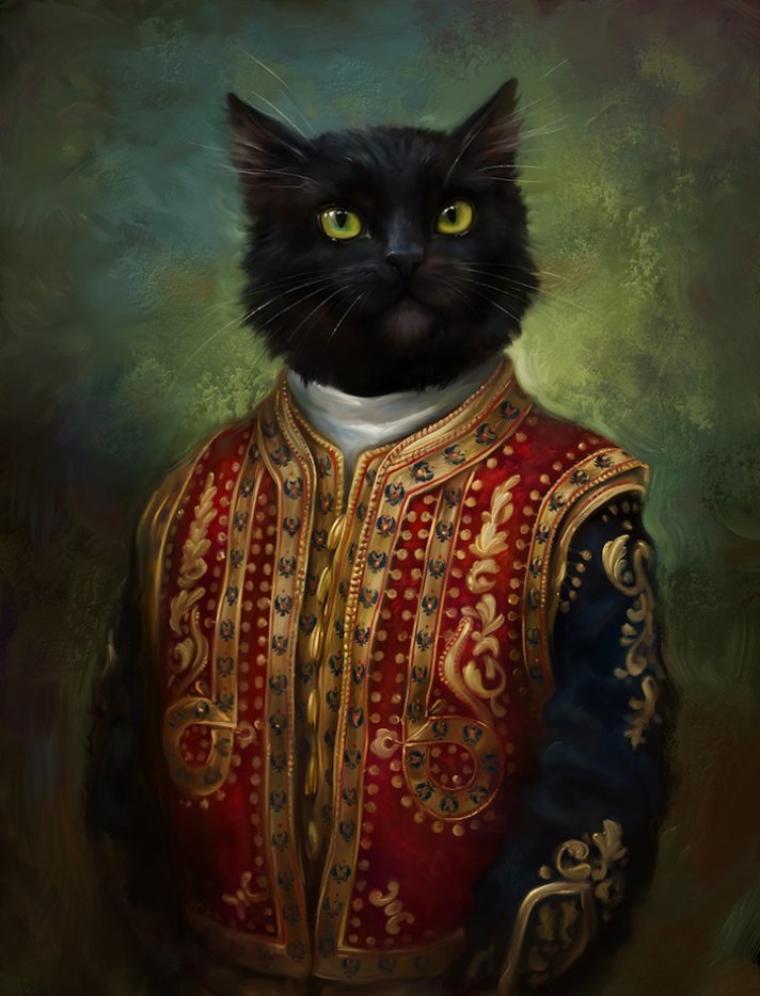 Portraits de chats.