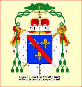 Louis de Bourbon (1456-1482) et le blanc à l'L (Dgs 689, Chestret 345) atelier d'Hasselt