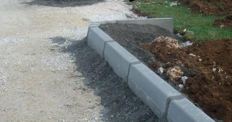 Une portion de la route en construction