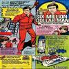 """Affiche publicitaire pour les jouets Kenner de la serie de """" L'homme qui valait 3 milliards """""""