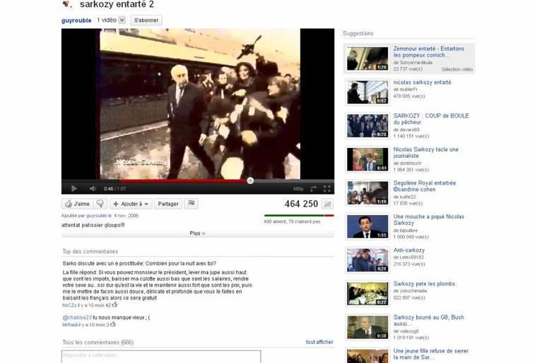 Dimanche 18 septembre 2011 ( Dont : Bloquages des compteurs sur Youtube et Dailymotion)
