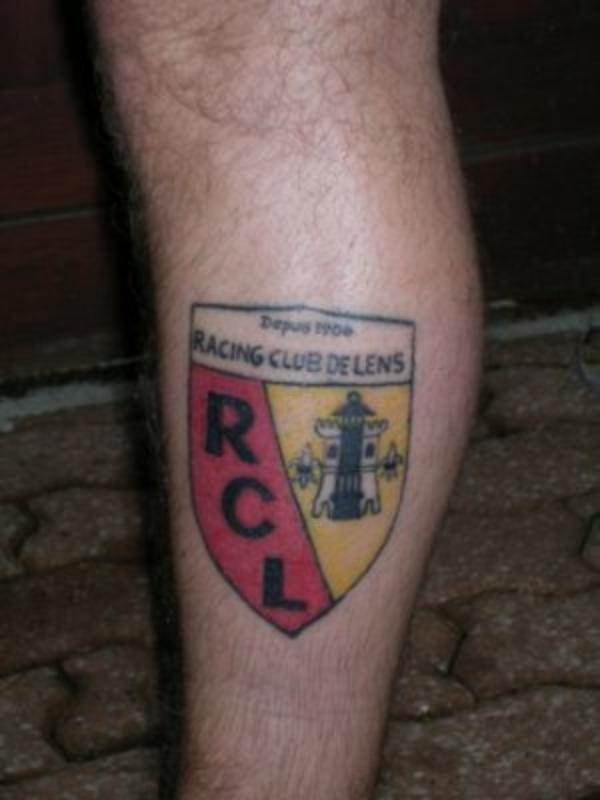 Tatouages de Supporters : RC Lens
