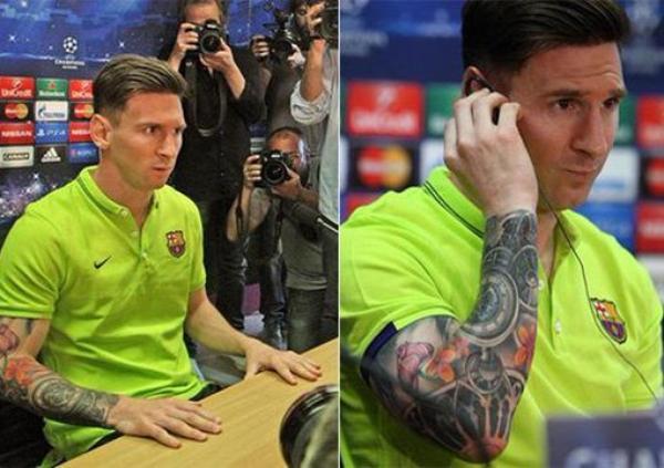 Nouveaux Tatouages (Lionel Messi)