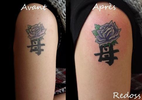 Rafraichissement D Un Vieux Tatouage Redoss Tattoo