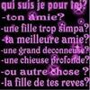 Qui je suis pour toi ????