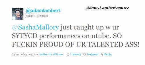 #451 Adam tweet qu'il est fier de la performance de Sasha Mallory à So You Think You Can Dance
