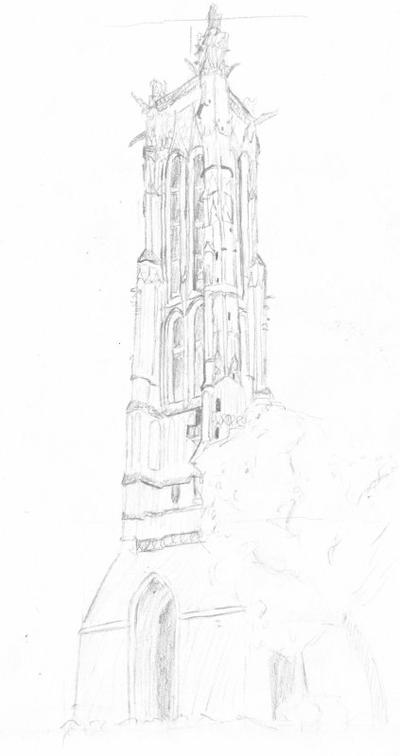 travail n°5, architecture, dessin d'observation