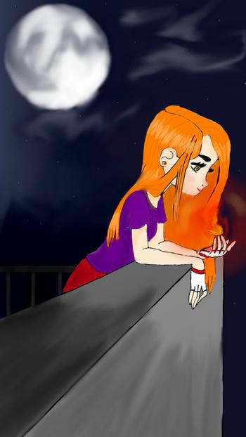 Draw: Girl thinking