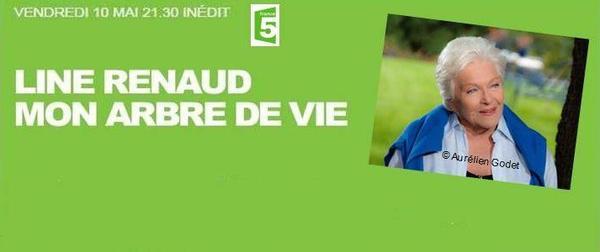 """Line Renaud - Diffusion ce soir à 21h30 sur Fr5 de """"Mon Arbre de Vie"""" (collection Empreintes)"""