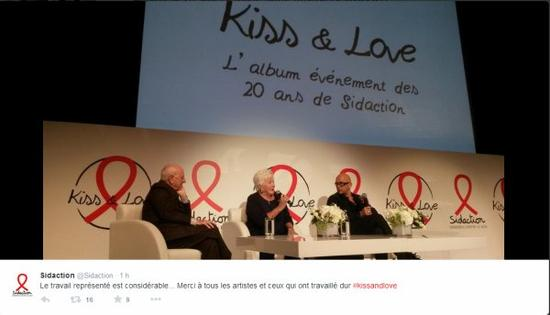 Line Renaud - Conférence de presse pour la sortie de l'album Kiss And Love