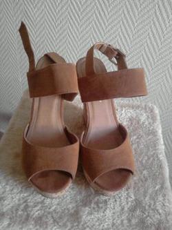 Chaussures d'été à talon compensées Taille 37