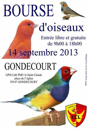 Bourse de Gondecourt de 14 septembre