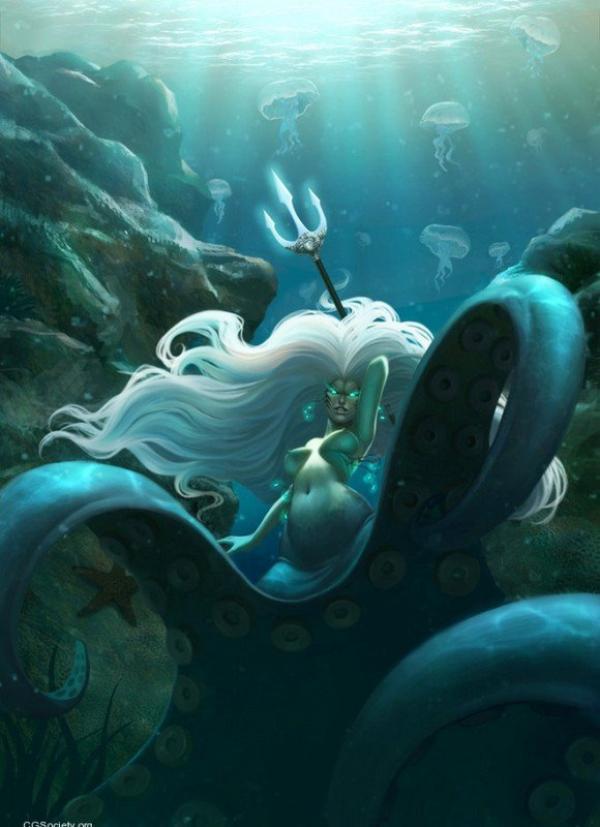 Ursula a Dérobé le Trident du Roi Triton