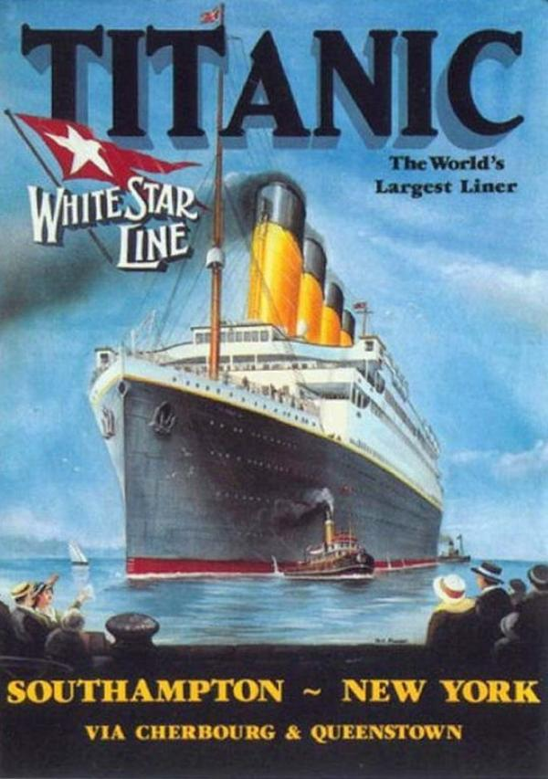 La Publicité pour Le Voyage Inaugural du RMS Titanic
