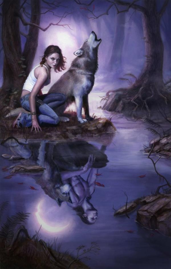 Le Loup : Mon Totem Amérindien (Je suis Chanceuse, j'ai Toujours été Fascinée par cet Animal, qui me Correspond Vraiment Bien !)