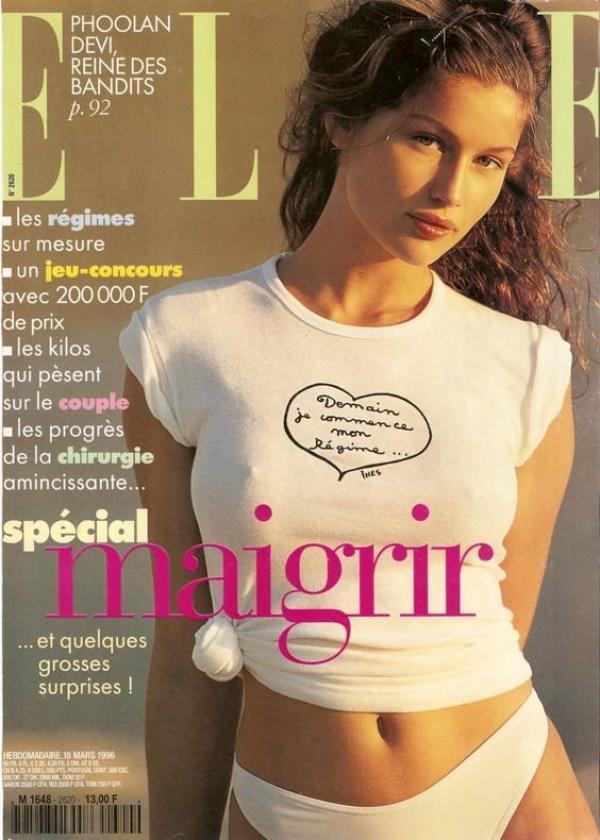 Je sens qu'avec l'arrivée de l'été...:-# J'aurais décidément passé ma jeunesse dans une société qui prône en permanence le culte de la minceur - la revue date de 1996 !