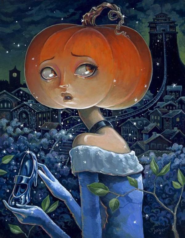 Cendrillon ne Respecte pas le Couvre-Feu....Les Citrouilles se dégonflent après que Samhain soit passé....