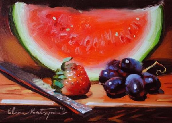 Les sujets peints par Elena Katsyura ont beau être banaux, ils me fascinent quand même !