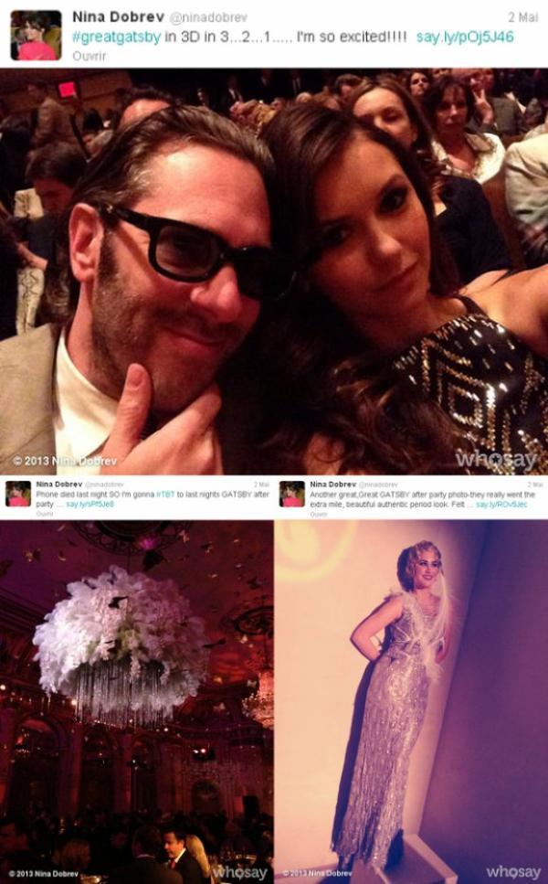 01/05/2013 Nina était à l'avant-première mondiale du film The Great Gatsby au Avery Fisher Hall à Lincoln Center à New York