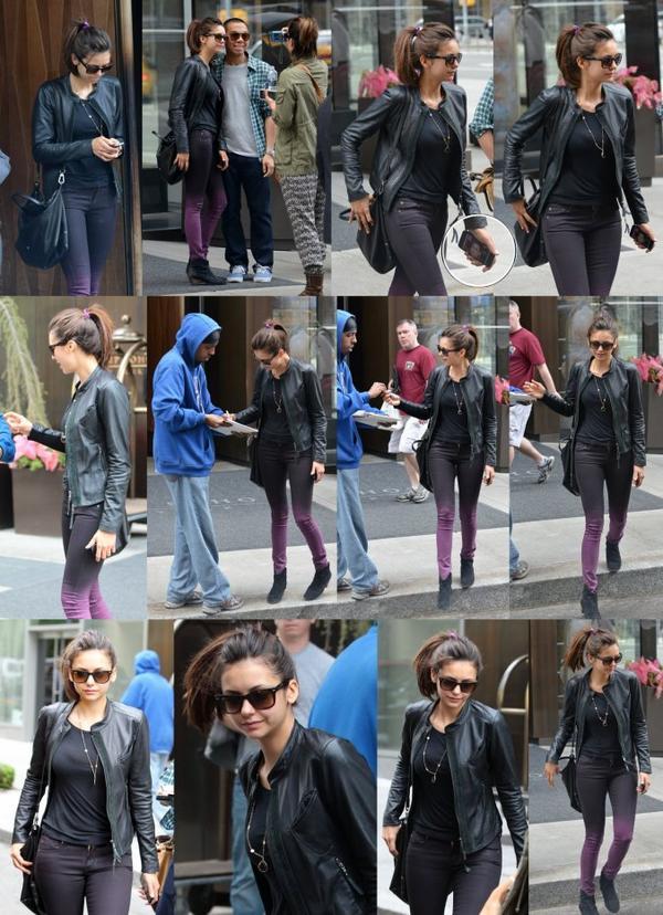 07/05/2013 Nina quittant le Trump Soho Hôtel à New York