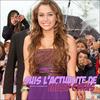 . Viens suivre l'actualité de Miley Ray Cyrus sur Smily-Cyrus.