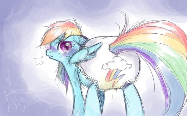 Rainbow Dash diaper