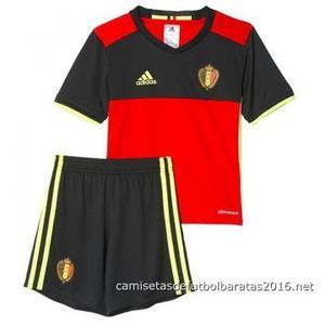 ea39d4976af41 Camisetas de futbol baratas niños Belgica Euro 2016 - Camisetas de ...