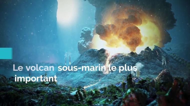 Fiction: Le volcan Dzoudzou-bwuiii en engloutie  Mayotte