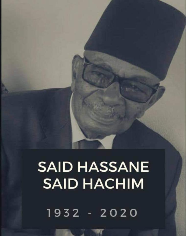 Kwalou ina lillah wa ilahiradjiouna: Le doyen M.Said Haddane Said Hachim vient de nous quitter