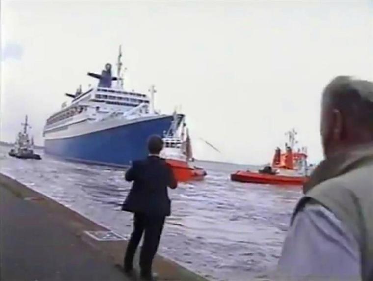 SS NORWAY : le dernier départ de Bremerhaven