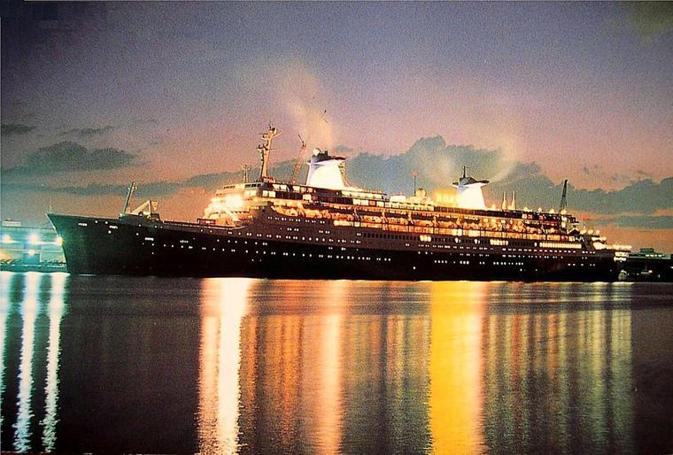 septembre 1996 SS NORWAY QUITTE MIAMI POUR NEW YORK PUIS LE HAVRE