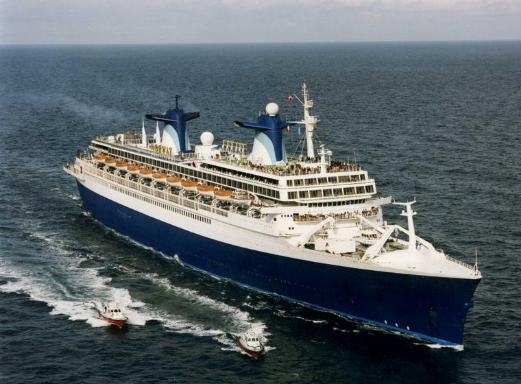 Septembre 19996 :  SS NORWAY en vue du HAVRE