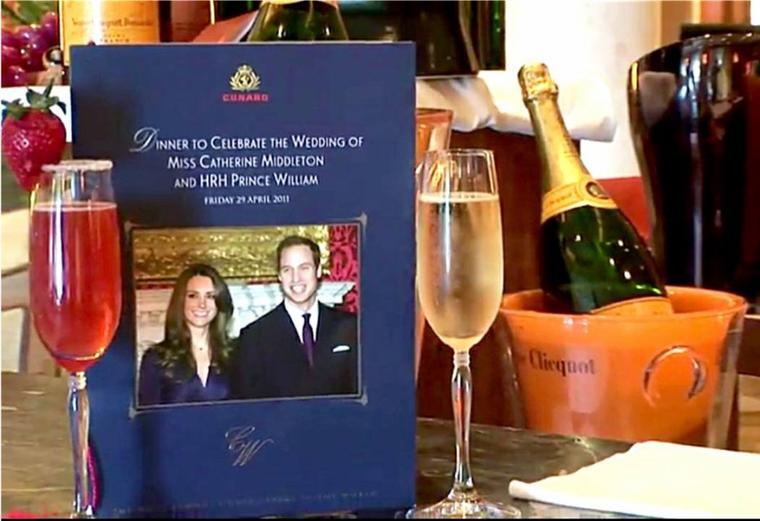 QM2 la Cunard et le mariage du prince William et de Kate