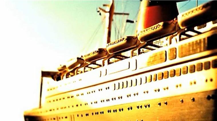 Model of the ocean liner ss FRANCE