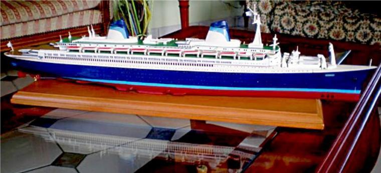 S/S NORWAY 1980 - 1989 construit par Pascal à partir de la boite de maquette GLENCOE pour le S/S FRANCE