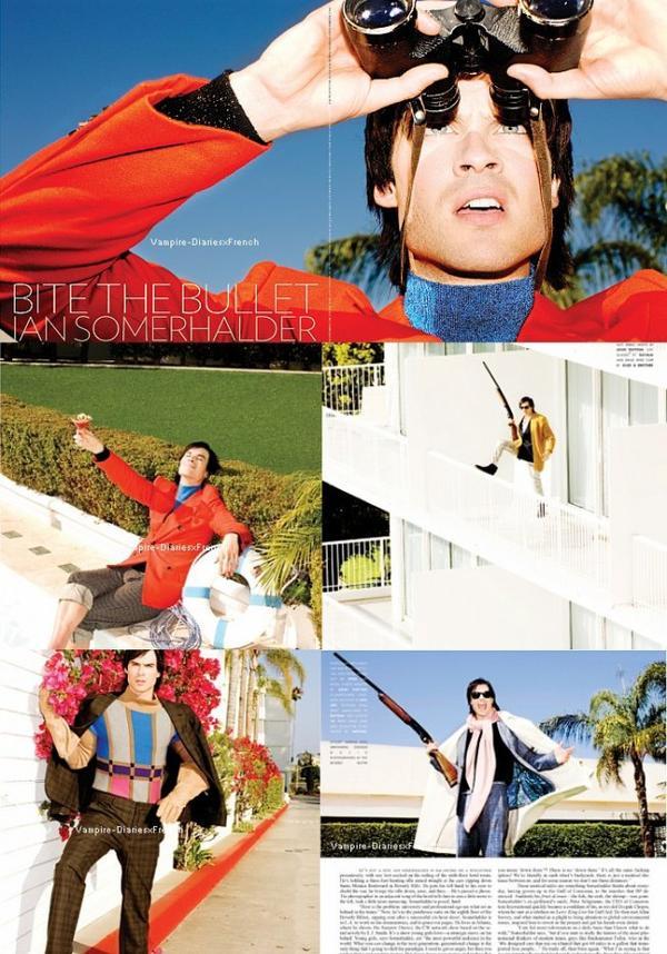 """Octobre 2011 : Ian pose pour le magasine """"Flaunt"""""""