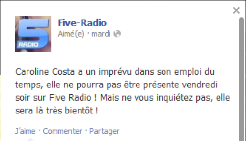 Messages Facebook du jours - 06/09/12
