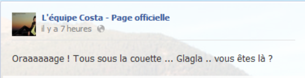 Messages Facebook du jours - 11/09/12