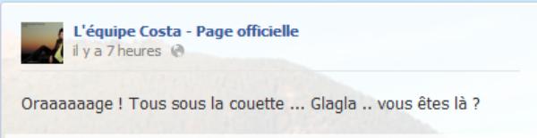 Messages Facebook du jours - 11/09/12