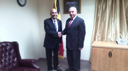 Hon. Asot Michael ,Minister of Tourism  receives Courtesy call from Israeli Ambassador